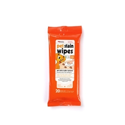 PetKin Pet Stain Wipes - 20 count