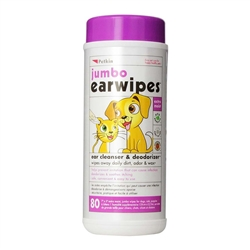 PetKin Jumbo Earwipes 80 count