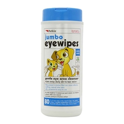 PetKin Jumbo Eyewipes 80 count