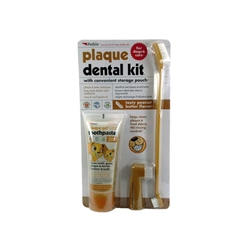 PetKin Plaque Dental Kit - Peanut Butter