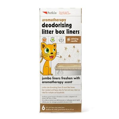 PetKin Litter Box Liners - Vanilla - 6 count