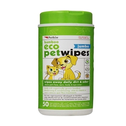 PetKin Bamboo Eco Petwipes - 50 count