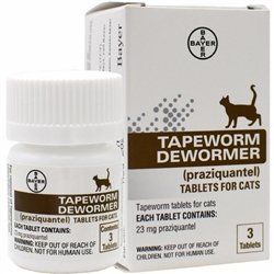 Tapeworm Dewormer for Cats (3 Tablets) - Case of 12