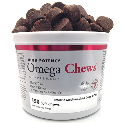 Omega Chews for Medium & Large Dogs (150 Soft Chews)