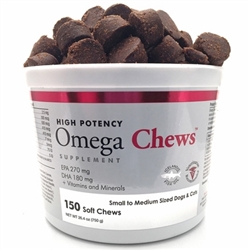 Omega Chews for Small to Medium Sized Dogs & Cats (150 Soft Chews)