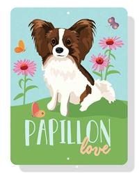 "Papillon Love Sign 12"" x 9"""