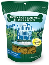 NATURAL BALANCE L.I.T. LIMITED INGREDIENT TREATS BROWN RICE & LAMB MEAL