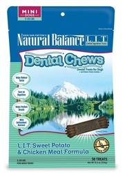 NATURAL BALANCE DENTAL CHEWS LIT SWEET POTATO/ CHICKEN MEAL FORMULA