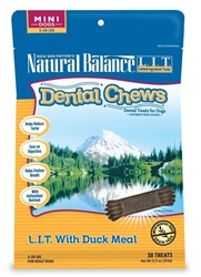 Natural Balance Dental Chews LIT with Duck Meal Formula