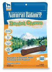 NATURAL BALANCE PUMPKIN & CHICKEN MEAL W/PAPAYA DENTAL CHEW