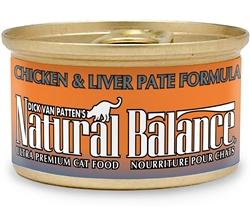 Natural Balance Chicken & Liver Pat Formula Canned Cat Food 3oz (Case of 24)