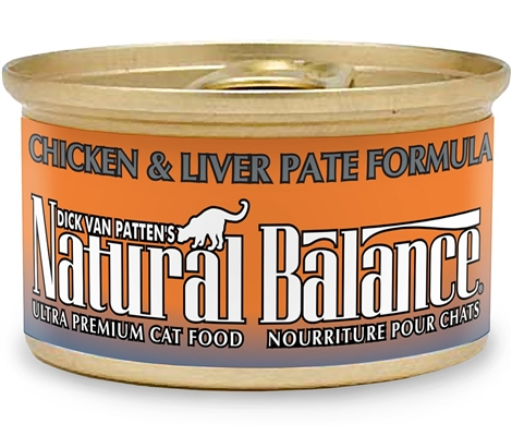 Natural Balance Chicken & Liver Pat Formula Canned Cat Food 3oz (Case of 24)