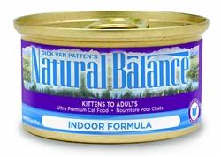 Natural Balance Indoor Cat Formula Canned Cat Food 24/5.5oz (Case of 24)