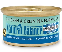 Natural Balance L.I.D. Chicken & Green Pea Formula Canned Cat Food 3oz Case of 24