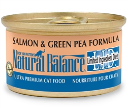 Natural Balance L.I.D. Salmon & Green Pea Formula Canned Cat Food (Case of 24)