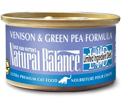 Natural Balance L.I.D. Venison & Green Pea Formula Canned Cat Food (Case of 24)