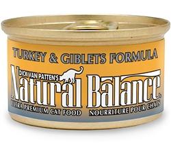 Natural Balance Turkey & Giblets Formula Canned Cat Food 3oz (Case of 24)
