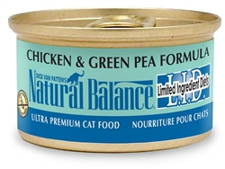 Natural Balance LID Chicken & Green Pea Formula Canned Cat Food  (Case of 24)
