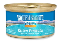 Natural Balance Ultra WBH Kitten Formula Canned Cat Food 3oz Case of 24