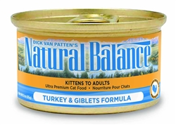 NATURAL BALANCE TURKEY & GIBLETS FORMULA CANNED CAT FOOD 24 cans/5.5OZ