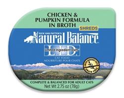 Natural Balance LID Chicken & Pumpkin Formula in Broth Cat Food 24/.75oz