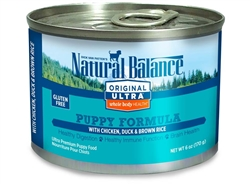 Natural Balance Ultra WBH Chicken, Duck & Brown Rice Puppy Formula Canned Dog Food