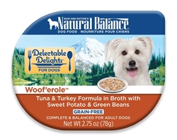 Natural Balance Delectable Delights Woof'erole in Broth Dog Food 2.75oz (Case of 24)
