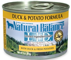 Natural Balance L.I.D. Duck & Potato Formula Canned Dog Food (Case of 12)