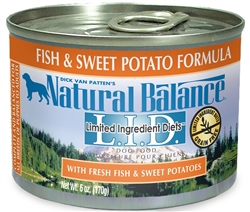 Natural Balance L.I.D. Fish & Sweet Potato Formula Canned Dog Food