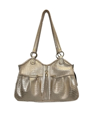Metro - Gold Croc with Tassel