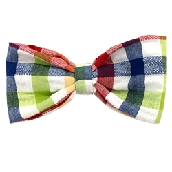 Seersucker Multi Plaid Cotton Bowties