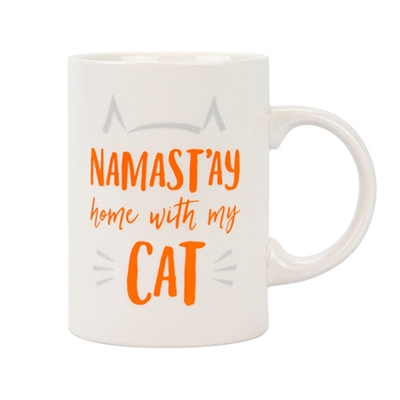 namast'ay home with my cat mug by Pearhead