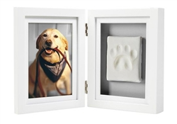 Pearhead - Pawprints desk frame, White/Ink