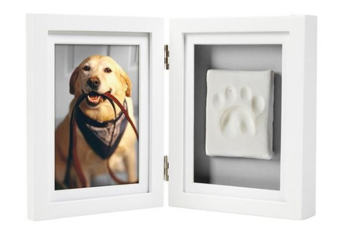 Pawprints Desk Frame in White by Pearhead