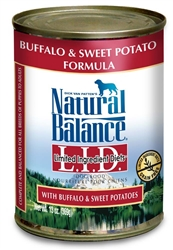 Natural Balance LID Buffalo & Sweet Potatoes Can Dog Food 13oz (Case of 12)