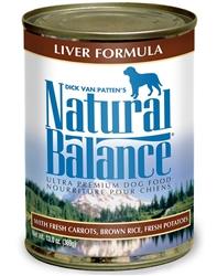 Natural Balance Ultra Premium Liver Formula Canned Dog Food 13oz (Case of 12)