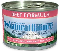 Natural Balance Ultra Premium Beef Formula Canned Dog Food (Case of 12)