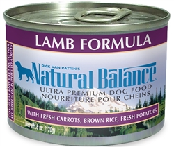 Natural Balance Ultra Premium Lamb Formula Canned Dog Food (Case of 12)