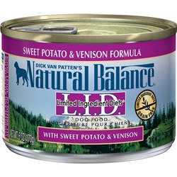 Natural Balance LID Sweet Potato & Venison Canned Dog Food (Case of 12)