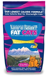 Natural Balance Fat Cats Chicken & Salmon Formula Low Calorie Dry Cat Food