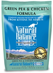 Natural Balance L.I.D. Green Pea & Chicken Formula Dry Cat Food
