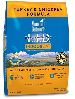 Natural Balance LID Indoor Cat Turkey & Chickpea Formula