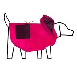 Colorblock Anorak Raincoat Pink/Burgandy