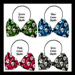 Camo Skull Collection Pet Bow Ties