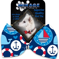 Anchors Away Pet Bow Tie