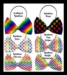 Rainbow Collection Pet Bow Ties