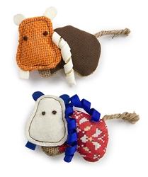 Petlinks - Safari HyperNip Hyper Hippos, Set of 2 Cat Toys