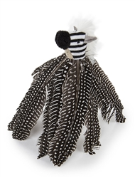 Safari HyperNip Zippy Zebra Feathers Cat Toy by Petlinks