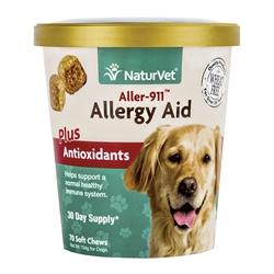 NaturVet 70 Count Aller-911 Allergy Aid Plus Antioxidants Soft Chews