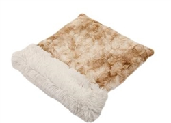 Beige Rabbit with Cream Shag Cuddle Pouch